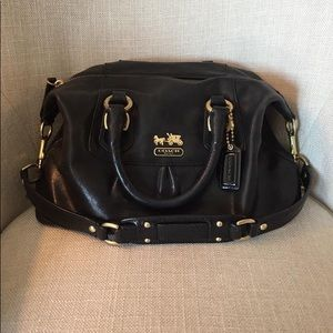 Authentic Coach satchel with gold hardware